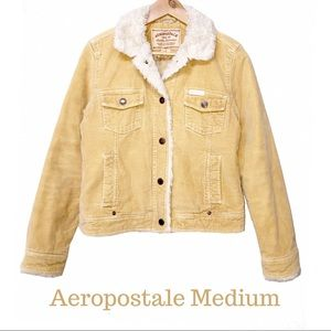 Aeropostale Sherpa Corduroy Jacket